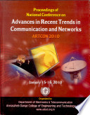 Advances in Recent Trends in Communication and Networks
