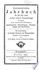 Berliner astronomisches jahrbuch für ...