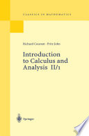 Introduction to Calculus and Analysis II 1