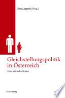 Gleichstellungspolitik in Österreich