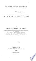Chapters on the Principles of International Law