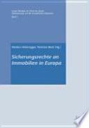 Sicherungsrechte an Immobilien in Europa