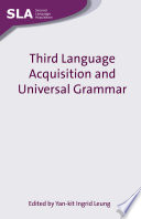 Third Language Acquisition And Universal Grammar