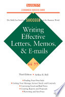 writing effective letters memos and e mail