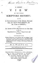 A Short View of the whole Scripture History     Sixteenth edition