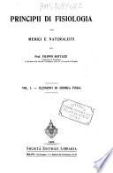 Principii di Fisiologia per medici e naturalisti