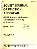 Soviet Journal of Friction and Wear