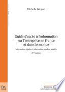 Guide d acc  s    l information sur l entreprise en France et dans le monde