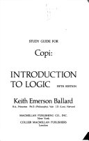 Study guide for Copi  Introduction to logic  fifth edition