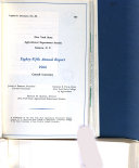 Annual Report of the Board of Control of the New York Agricultural Experiment Station   Geneva  Ontario County