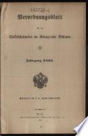 Verordnungsblatt für das Volksschulwesen im Königreiche Böhmen