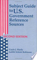Subject Guide to U S  Government Reference Sources