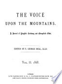The Voice Upon The Mountains Ed By T G Bell Vol 1 3 book