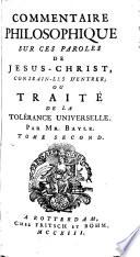 Commentaire philosophique sur ces paroles de J  sus Christ  Contrain les d entrer