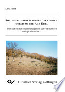 Soil Degradation in Simple Oak Coppice Forests of the Ahr Eifel