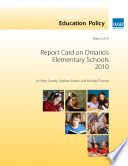 Report Card on Ontario s Elementary School 2010