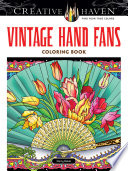 Creative Haven Vintage Hand Fans Coloring Book