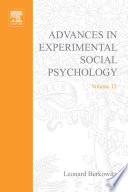 Advances In Experimental Social Psychology book