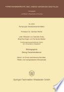 Bibliographie Georg Kerschensteiner