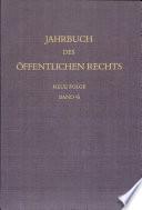 Jahrbuch Des Offentlichen Rechts Der Gegenwart