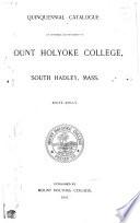 Quinquennial Catalogue ...