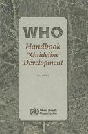 Who Handbook for Guideline Development