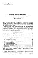 Revue Fran  aise D informatique Et de Recherche Op  rationnelle
