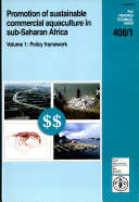 Promotion of Sustainable Commercial Aquaculture in Sub-Saharan Africa: Policy framework