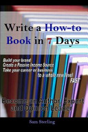 Write a How-To Book in 7 Days