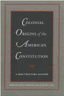 Colonial origins of the American Constitution