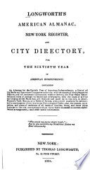Longworth s American Almanack  New York Register  and City Directory  for the     Year of American Independence