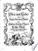 Oden und Lieder zum Singen bey dem Clavier ... Erster Theil