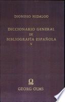 Diccionario general de bibliografia española