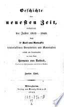 Geschichte der neuesten Zeit, enthaltend die Jahre 1815 - 1840