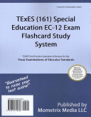 TExES  161  Special Education EC 12 Exam Flashcard Study System