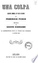 Una colpa azione mimica in sei quadri di Federico Fusco