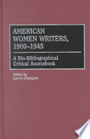 American Women Writers  1900 1945