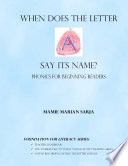 When Does the Letter A Say Its Name  Phonics for Beginning Readers