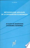 M  thodologie appliqu  e de la dissertation   conomique