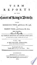 Term Reports in the Court of King s Bench