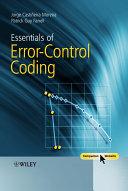 Essentials of Error-Control Coding