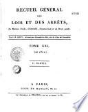 Jurisprudence de la cour de cassation de 1791 à 1813