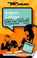 Babson College College Prowler Off the Record