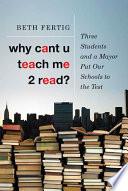 Why cant U teach me 2 read