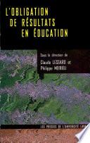 L'obligation de résultats en éducation