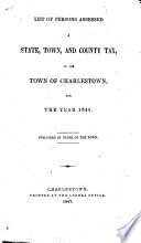 List of Persons Assessed a State, Town, and County Tax in the Town of Charlestown for the Year 1846