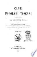 Canti popolari toscani raccolti e annotati da Giuseppe Tigri