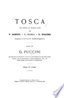 Tosca  an Opera in Three Acts