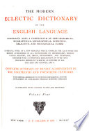 The Modern Eclectic Dictionary of the English Language Book PDF
