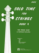 Solo Time for Strings  Bk 4  Bass
